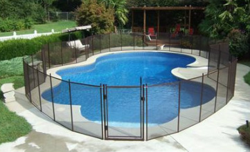 bronze pool fencing and pool gate in Tampa, Largo, Valrico fl