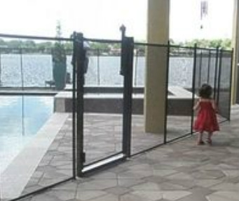 child being guarded by a swimming pool safety device in  Altamonte Springs fl